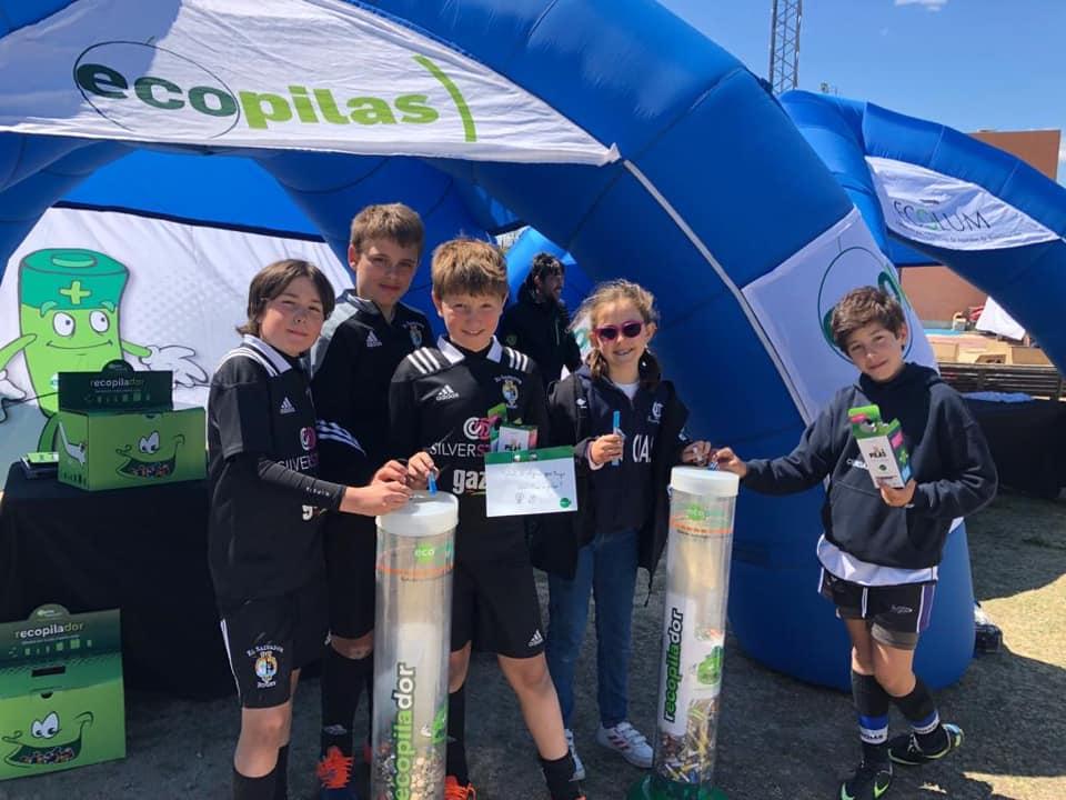Ecopilas ha recogido 710 kilos de pilas usadas a través de los contenedores que ha instalado en cinco eventos deportivos celebrados en el mes de mayo.