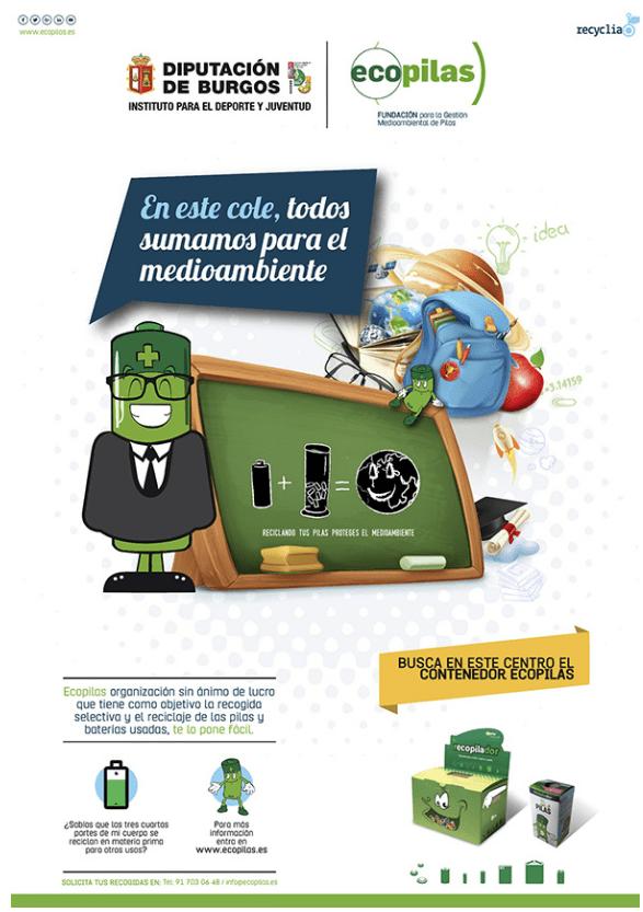 Reciclaje de pilas en Burgos