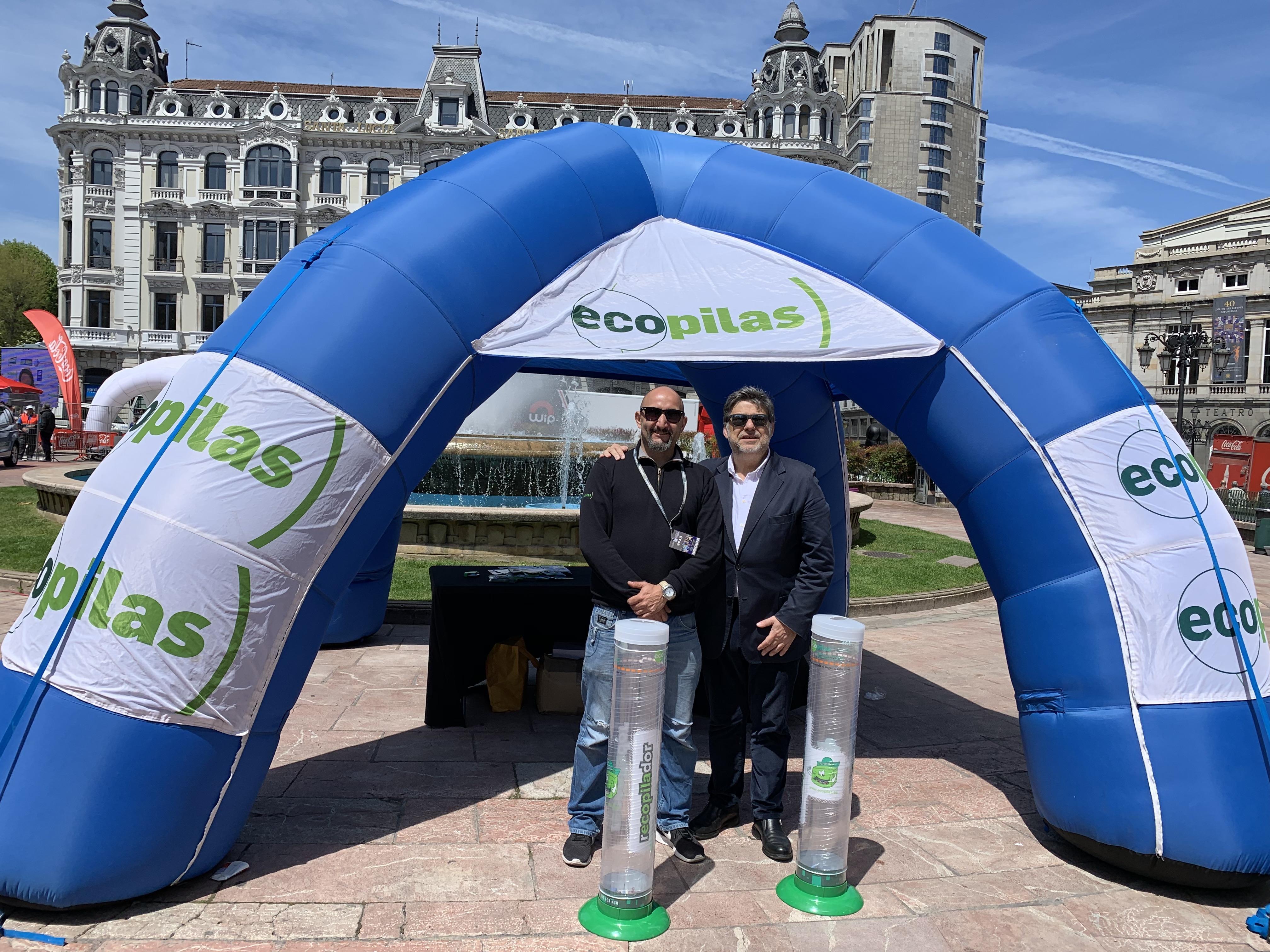 Ecopilas, en la Vuelta Ciclista a Asturias
