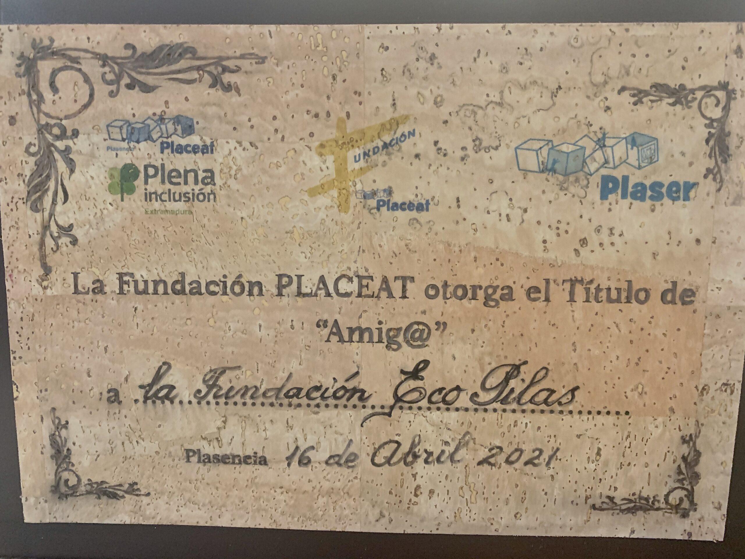 Placa Fundación Placeat