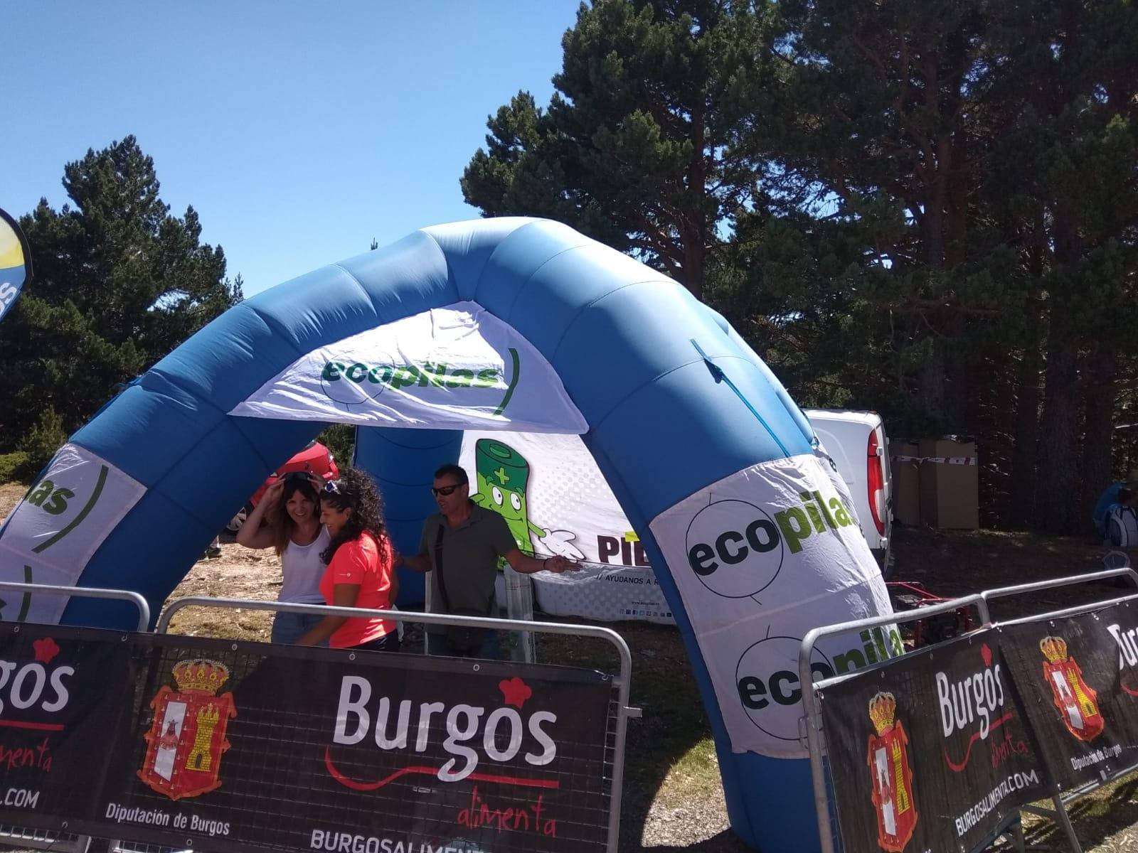 Por el reciclaje de pilas en Vuelta a Burgos